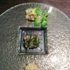 レストラン よねむら - 料理写真:前菜、鱧炙り、たらば蟹フレーク、小魚
