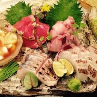 旬の鮮魚造り盛り合わせ