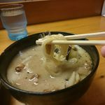 42114291 - 麺リフト 太麺です