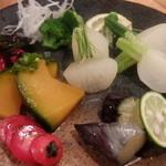 まごわやさしい - 野菜の盛り合わせ