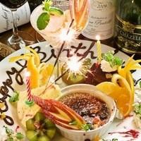 誕生日・記念日に♪デザートプレート!