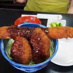 むらい - 超ジャンボ海老フライ&ヒレかつ丼(ソースかつ丼)