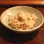 眠庵 - 料理写真:お通し (おから煮)