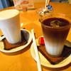 コースター - ドリンク写真:バナナジュース、アイスカフェオレ