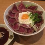 モンキーモカ コーヒープラスモア - お好み醤油の和風 ローストビーフ丼(道頓堀お好み醤油):850円