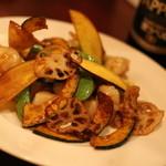 チャイナダイニング 喰う 喰う - 2015年10月 海老と帆立のXOジャン炒め