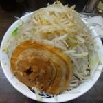 雷 - 雷そば(大盛り)(780円)+野菜マシ、ニンニクなし