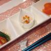 天使のためいき - 料理写真:マカロニのシーチキン和え生ハム添え いんげんとプチトマト 、北寄貝サラダいくらのせ、モッツァレラチーズ サーモン巻き ブロッコリー