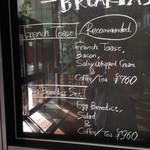 ザ シティ ベーカリー バー アンド バーガー ルービン - メニュー写真:朝メニュー 左
