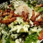 JAZZ居酒屋みね - 大山鶏のベーコン…どうせなら…もすこし大きくても(^∧^)