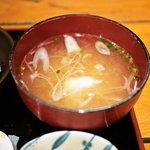漁十八番 - 味噌汁(2010年6月)
