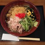 松栄庵 - 料理写真:冷やしたぬきそば。税込750円です。