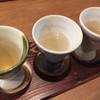 粋季 - 料理写真:左から鰹、アゴ、海老のダシ