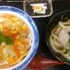 香房 - 料理写真:(2015.9)特 地鶏親子丼 かけうどんセット