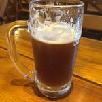 42327480 - チョッと飲んじゃったけど‥ブラウン590円Alc6% 黒ビール程では無いけど香ばしさがソレっぽい^ ^