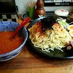 42328297 - 辛味噌つけ麺(5倍大辛)850円
