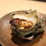 青草窠 - 強肴:岩手産松茸とさざえ