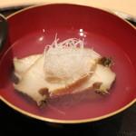 青草窠 - 椀物:冬瓜とアワビ