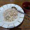 徳澤園 - 料理写真:野沢菜チャーハンと若芽の汁物