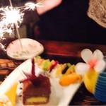 うら庭 - ケーキ