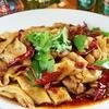 中国茶房8 - 料理写真:手打ちベルト麺の辛口炒麺(鶏肉or羊肉)