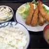 女良食堂 - 料理写真:2015/09 エビフライ定食とマカロニサラダ
