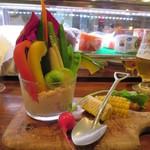 ワイン食堂 根 - こだわり野菜たっぷりバーニャ畑 900円