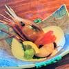オーベルジュ 北の暖暖 ダイニングルーム 綾 - 料理写真:お造り(ボタン海老)