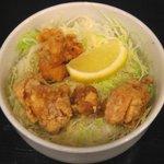 麺ジャラスK - 「鶏もも唐揚げ丼」450円