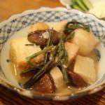 直菊 - 厚揚げ煮