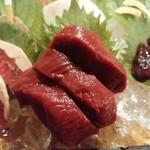 会津郷土食 鶴我 - 鶴我自慢最高級赤身ヒレ刺ーマグロじゃないですよ(笑)ー