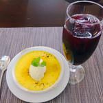 サンマルク - クリームブリュレ バニラアイス添え&ぶどうジュース