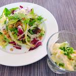 サンマルク - 本日のサラダ&海老とアボカドのサラダ