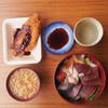 魚鶴本店 - 料理写真:魚鶴@三鷹連雀通りのランチ丼(海鮮丼)500円とタラフライ100円[2015.09]⑤