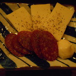 ぼんそわ - チーズとサラミ