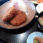 牛かつ いち華 - メンチカツ定食