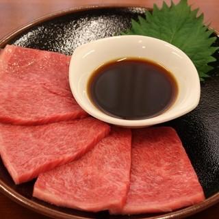 松阪牛焼しゃぶ2350円(税別)