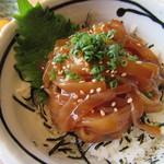 離島キッチン - 寒シマメ漬け丼(イカの漬け丼)