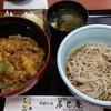 辰巳庵 - 料理写真:穴子天丼冷ぶっかけそばセット