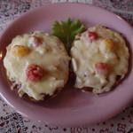 無地 - 料理写真:手作りパンによるピザトースト