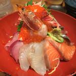 米福 - 豪快特上海鮮丼(小鉢、味噌汁、漬物付き)@1,680