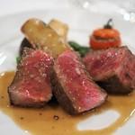 レストラン・サカキ - 黒毛和牛イチボのステーキ