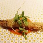 42640011 - 温前菜 鮎のカダイフ巻きフリット