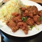 魯園菜館 - 若鶏肉の唐揚げ特製ソースかけ( '15.10)
