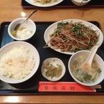 魯園菜館 - もやしと豚肉の細切り炒め ランチ¥750( '15.10)