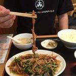 魯園菜館 - もやしと豚肉の細切り炒め( '15.10)