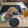 だるまや - 料理写真:焼そば大・串カツ豚ヒレ5・ウーロン茶
