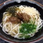 食い亭 - あじすりみごぼう天うどん600円(税込)