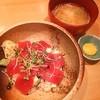 阿部寿司 - 料理写真:ランチの鉄火丼❤(*´∀`)♪ 玉子の黄身をかけて頂きます❤❤
