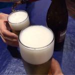 42680885 - 生ビール&瓶ビールで乾杯♪